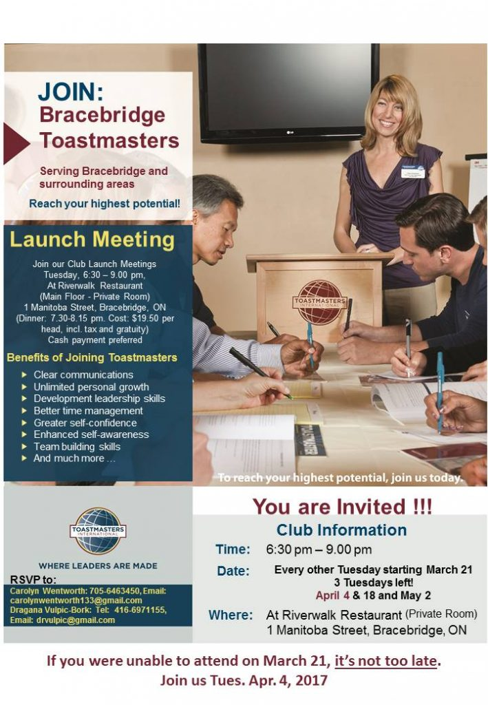Toastmasters Apr 4 2017