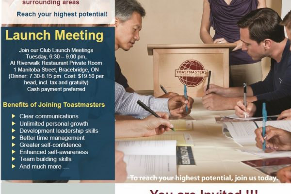 Toastmasters Invitation