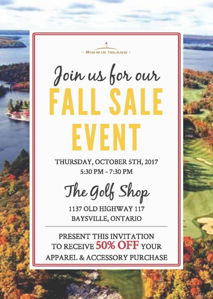 Bigwin Fall Sale Event