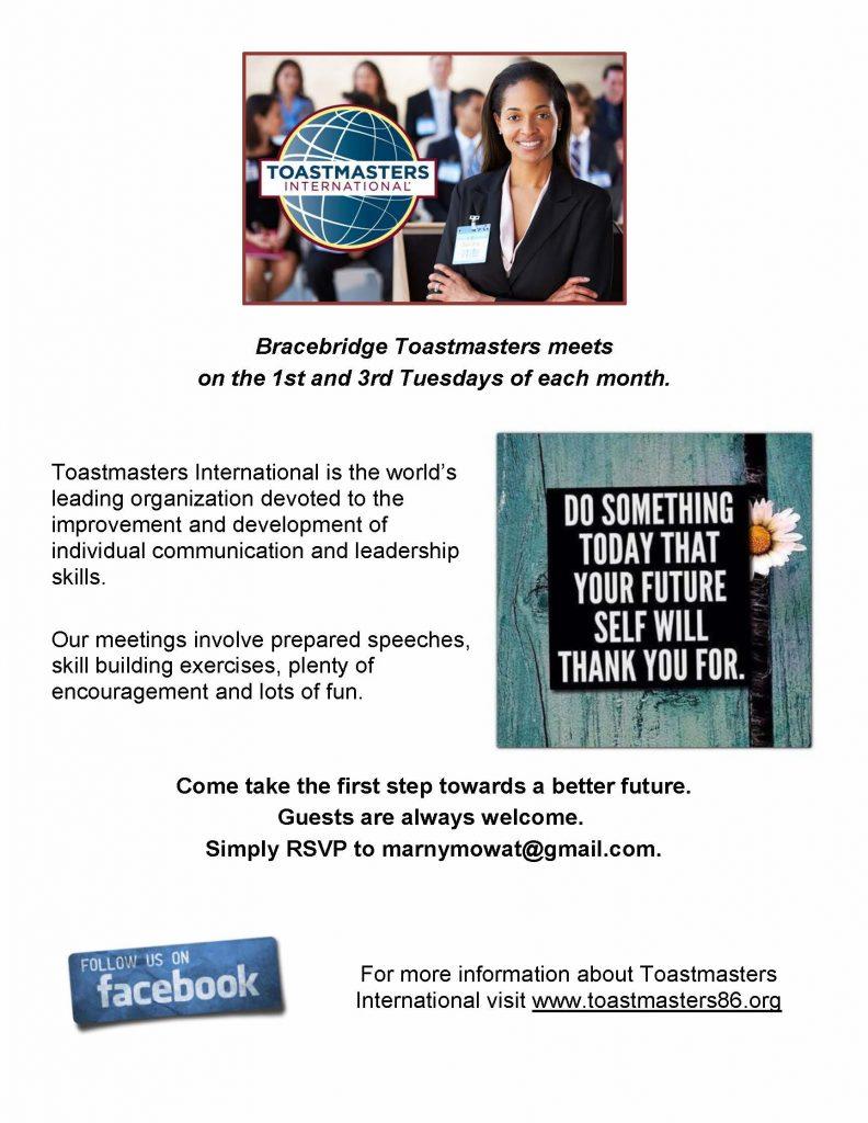 Bracebridge Toastmasters Poster