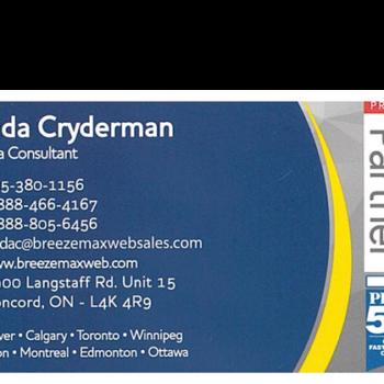 Linda Cryderman Business Card