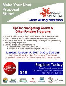 Volunteer Muskoka – Grant Writing Workshop